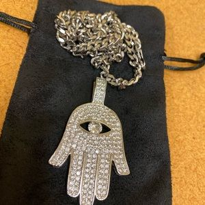 Iced out upside down hand chain !